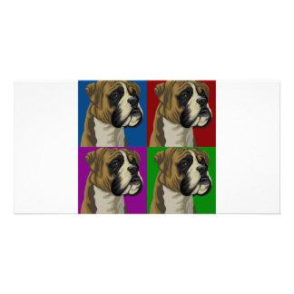 Boxer Dog Dark Primary Collage Card