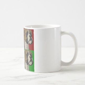 Boxer Dog Dark Primary Collage Coffee Mug