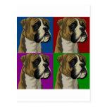 Boxer Dog Dark Primary Collage Postcards