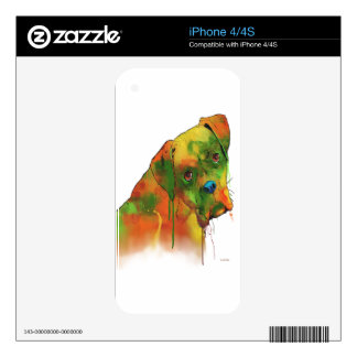 Boxer Dog Decals For iPhone 4S