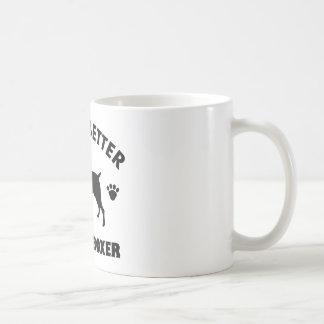 boxer dog design coffee mug