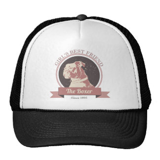 "Boxer Dog Design ""Girl's Best Friend: The Boxer"" Hats"