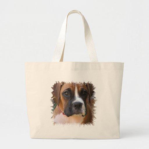 Boxer Dog Design Jumbo Tote Bag