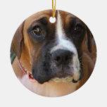 Boxer Dog Design Ornament