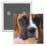 Boxer Dog Design Square Magnet Pin