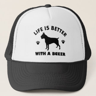 boxer dog design trucker hat
