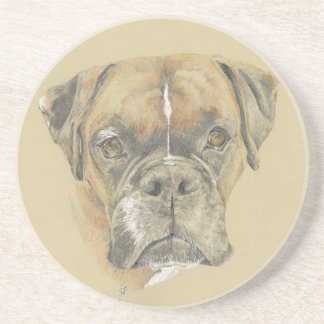 Boxer Dog Drawing Drinks Coaster