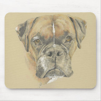 Boxer Dog Drawing Mouse mat