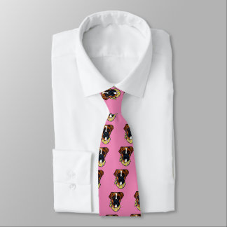 Boxer Dog Easter Tie