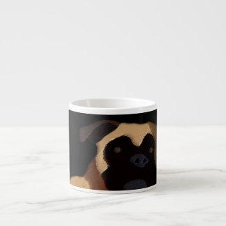 Boxer dog face espresso cup
