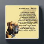 """Boxer Dog Father Poem Plaque<br><div class=""""desc"""">This would make a great gift for that special boxer dog loving father,  featuring a special father poem.</div>"""