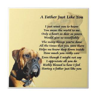 Boxer Dog Father Poem Tile
