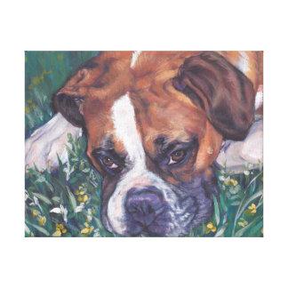 Boxer Dog fine art dog painting Canvas Print