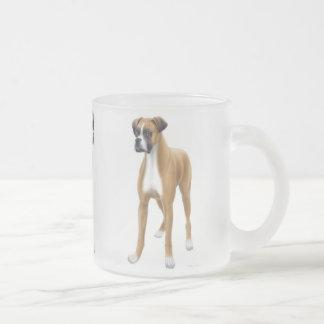 Boxer Dog Frosted Glass Mug