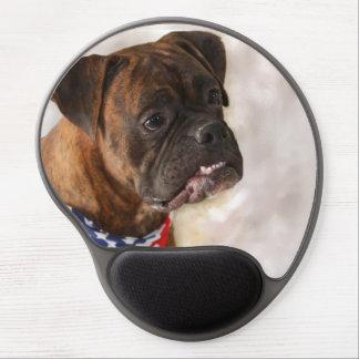 Boxer dog gel mouse pad