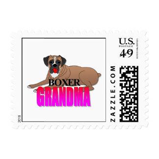 Boxer Dog Grandma Postage
