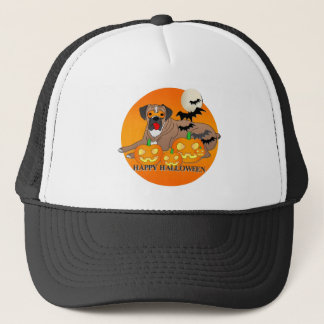 Boxer Dog Halloween Trucker Hat