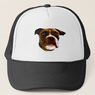 Boxer Dog Head 3 The MUSEUM Zazzle Gifts Trucker Hat
