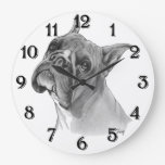 Boxer Dog Head Wallclock