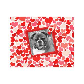 Boxer Dog Hearts Canvas Print