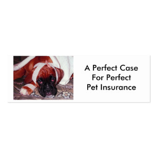 Boxer Dog in Need of Pet Insurance Mini Business Card