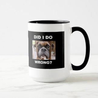Boxer Dog In Trouble Mug