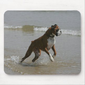 Boxer Dog in Water Mouse Pad