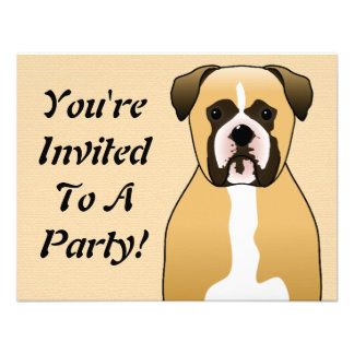 Boxer Dog Personalized Announcements