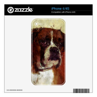 Boxer Dog iPhone 4S Skins