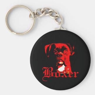 Boxer dog keychain