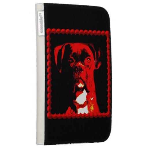 Boxer Dog Kindle Folio Case
