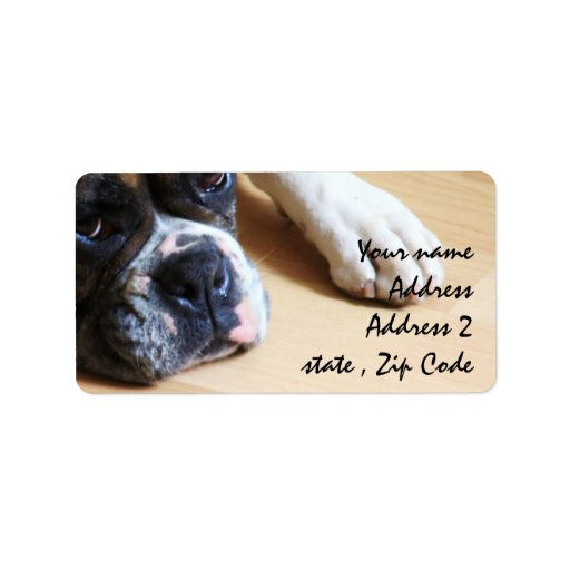 Boxer dog custom address label