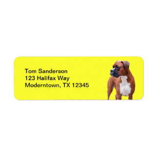 Boxer dog label