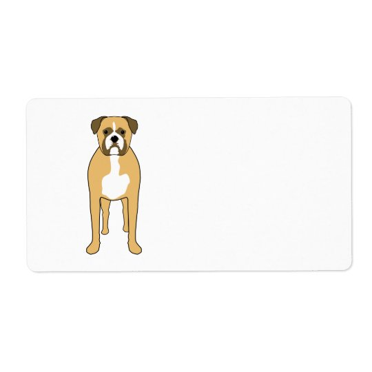 Boxer Dog. Label