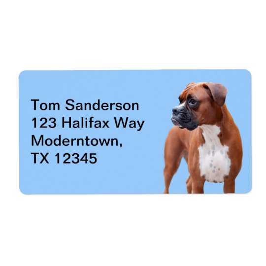Boxer dog label