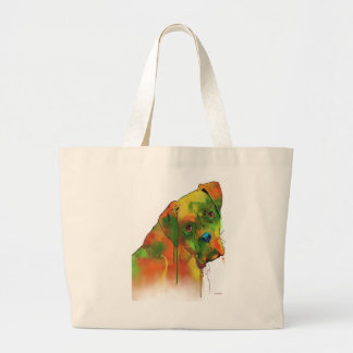Boxer Dog Large Tote Bag