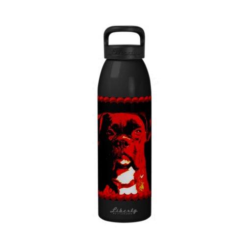 Boxer dog Liberty water bottle