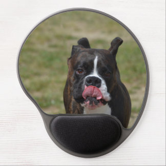Boxer Dog Licking His Chops Gel Mouse Pad