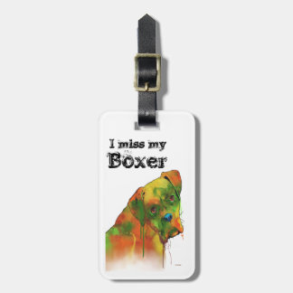 BOXER DOG - Luggage tag