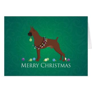 Boxer Dog Merry Christmas Design Card