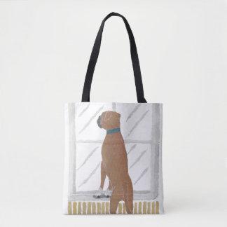Boxer Dog, Modern Tote Bag