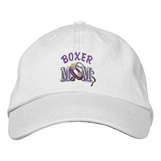 Boxer Dog Mom Embroidered Baseball Cap