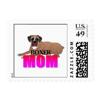 Boxer Dog Mom Postage