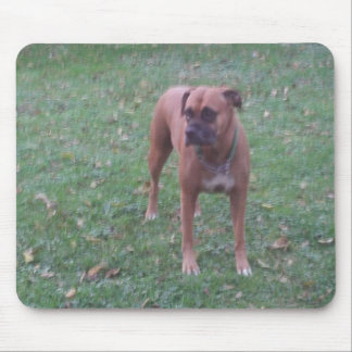 Boxer-Dog Mouse Pad