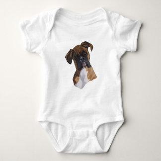 Boxer: Dog: Oil Pastel: Freehand Art Illustration Tee Shirt