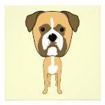 Boxer Dog. Oversized head. Personalized Invitations