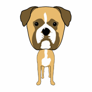 Boxer Dog. Oversized head. Photo Cut Outs