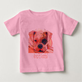 Boxer Dog Painting in Dazzling Colors Infant Wear Tee Shirt