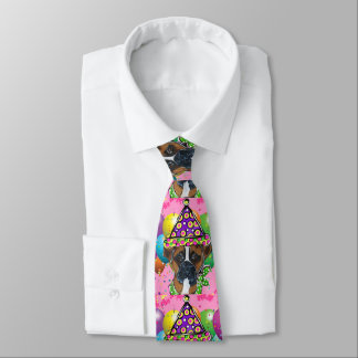 Boxer Dog Party Dog Tie