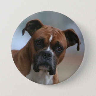Boxer dog Photo Round Button